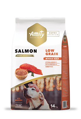 Croquettes super premium amity saumon