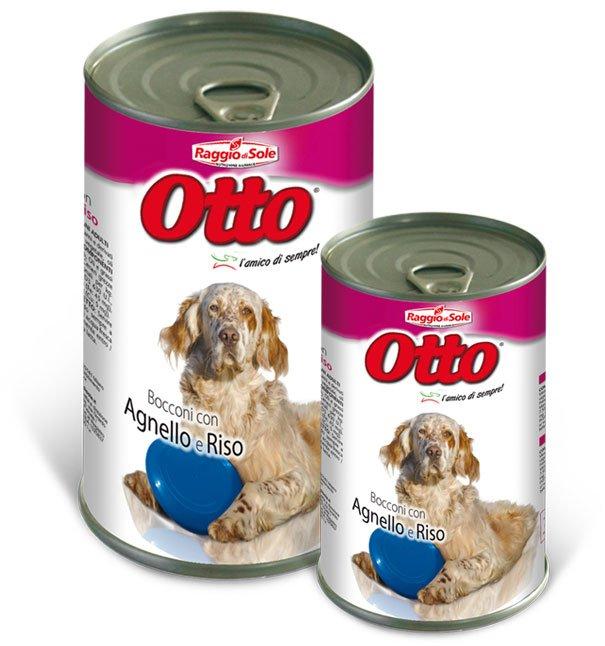 Otto morceaux à l'agneau et au riz pour chiens