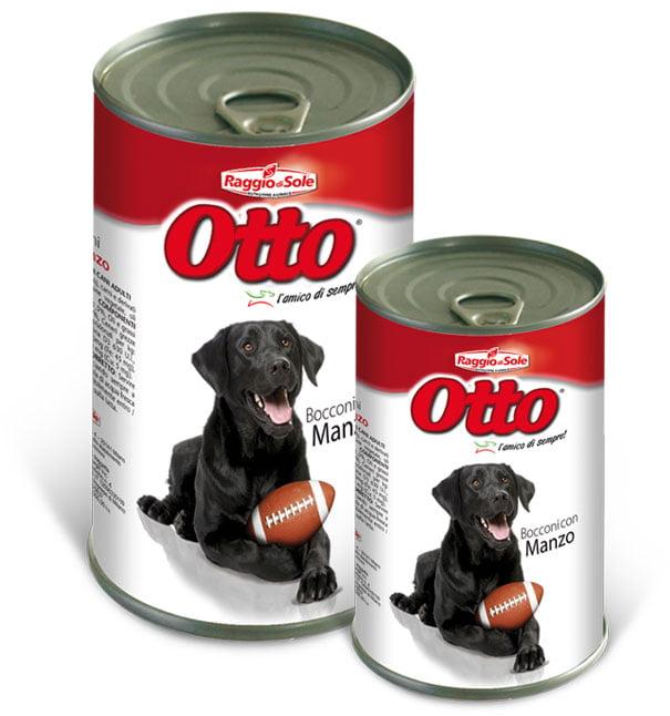 Otto morceaux de bœuf pour chiens