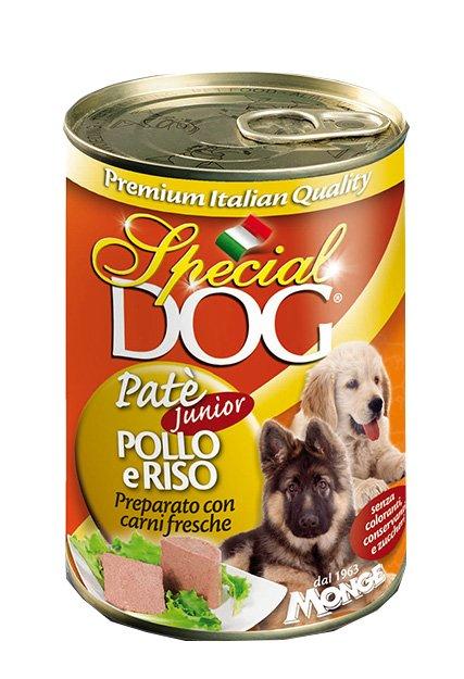 Special dog pâté au poulet et riz junior